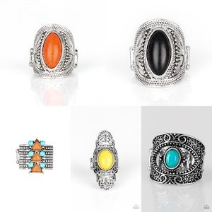 Paparazzi 5 pack of Rings! New!!